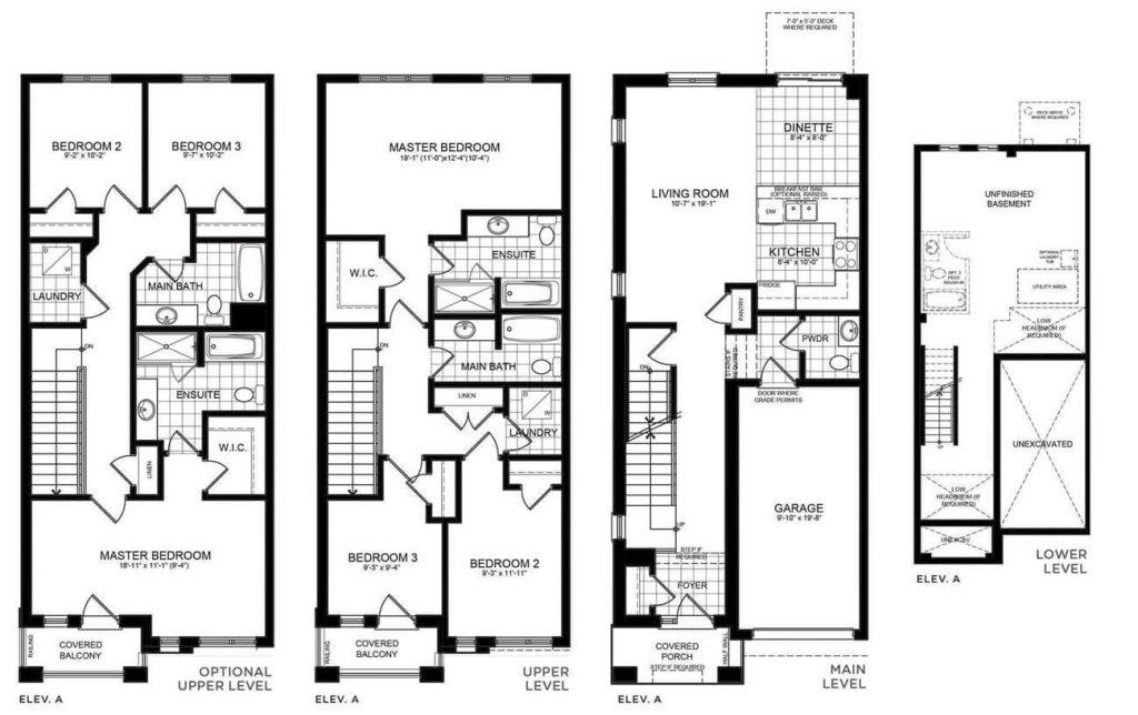 Townhome in Brantford - Floorplans